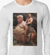 Putin riding Trump Long Sleeve T-Shirt
