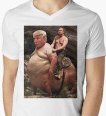 Putin reitet Trump T-Shirt mit V-Ausschnitt
