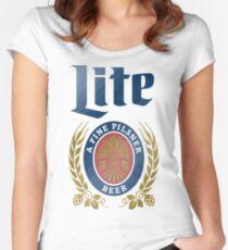 LITE (EIN FEIN PILSNER) BIER Tailliertes Rundhals-Shirt