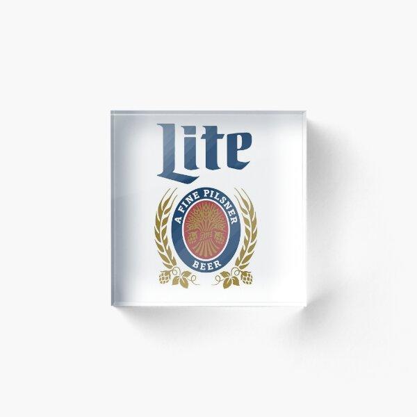 LITE (A FINE PILSNER) BEER Acrylic Block
