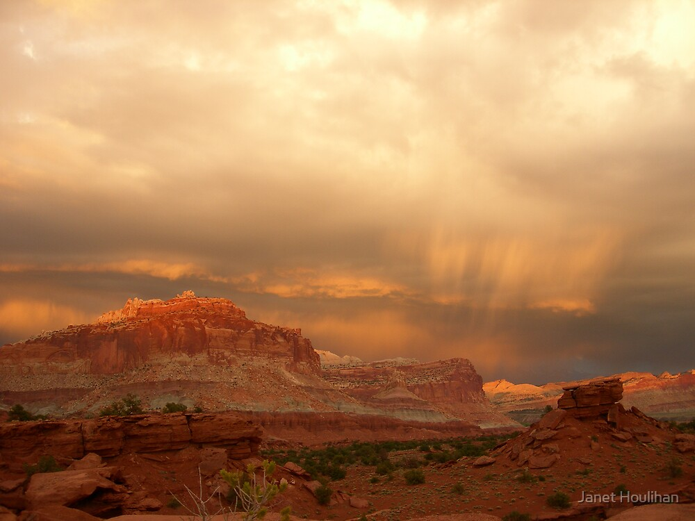 Storm Clouds over Capital Reef by Janet Houlihan