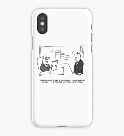 Report is Printed on Nice Paper iPhone Case