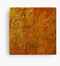 Enthroned Ruler at the Anthropological Museum in Mexico City Canvas Print