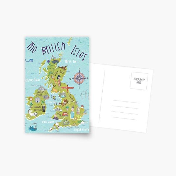 Illustrated British Isles Postcard