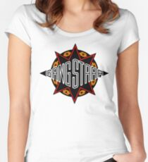 Gang Starr high quality logo Women's Fitted Scoop T-Shirt
