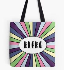 Blerg - Liz Lemon quote - 30 Rock - black Tote Bag