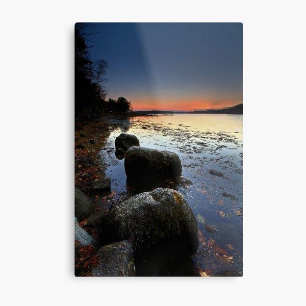 Autumn Sunset Back River Metal Print