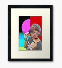 Red Lips and Geeky Glasses Framed Print