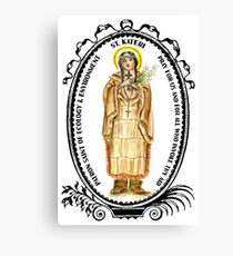 Saint Kateri Patron of Ecology & Environment Canvas Print