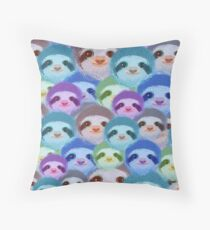 Psychedelic sloths Throw Pillow