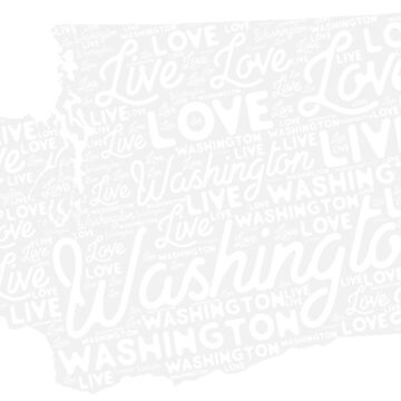Washigton State Love Live T shirt by arawaksupplyco