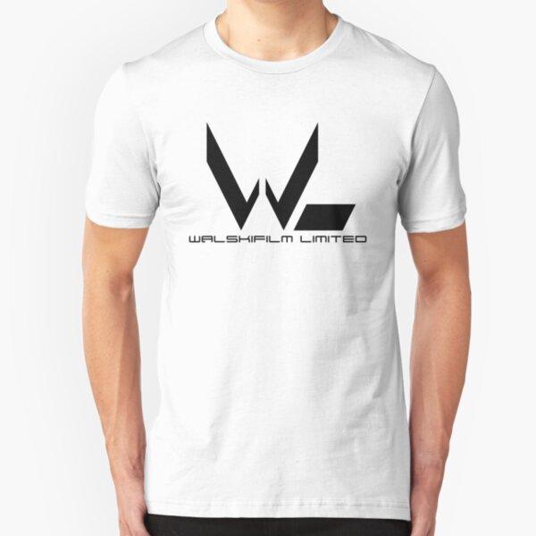 Black Walskifilm Logo Slim Fit T-Shirt