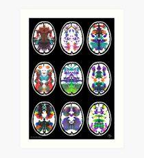 Rorschach inkblot fMRI Scan 9b Art Print