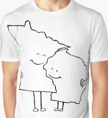 Minnesota and Wisconsin Graphic T-Shirt