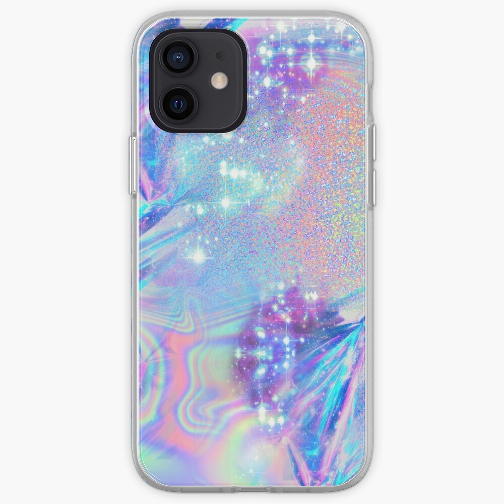 Sparkly Rainbow Holographic Pattern iPhone Case & Cover