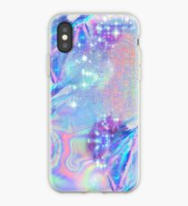 Sparkly Rainbow Holographic Pattern iPhone Case