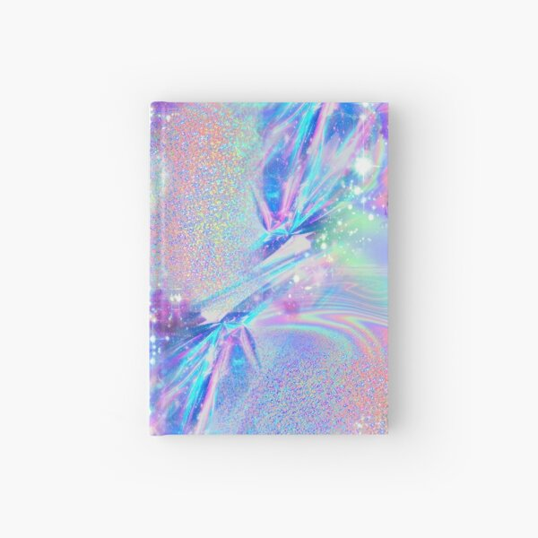 Sparkly Rainbow Holographic Pattern Hardcover Journal