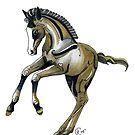 """Frolicking Ponies #3"" by Winterberry  Farm Studio"