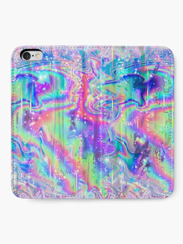 Alternative Ansicht von Psychedelische holographische Textur iPhone Flip-Case