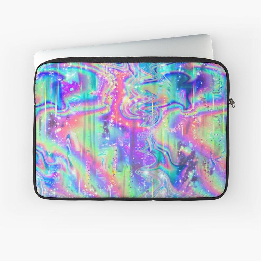 Psychedelische holographische Textur Laptoptasche