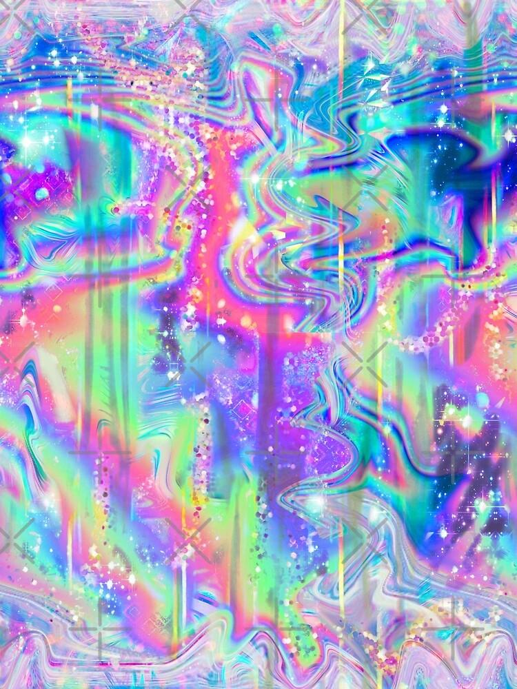 Psychedelische holographische Textur von SaradaBoru