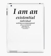 existential individual iPad Case/Skin