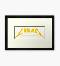 CREAM - WU-TANG METALICA Framed Print