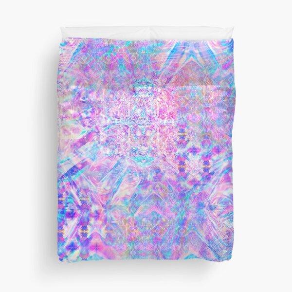 Purple Rainbow Holographic Duvet Cover