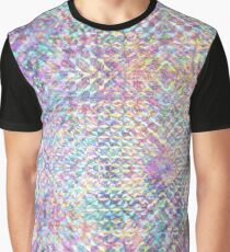 Metalic Holographic Texture Graphic T-Shirt