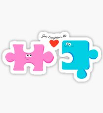 Puzzle Pieces in Love Sticker