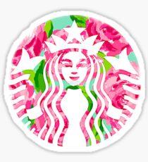 Starbucks Lily Pulitzer Logo Sticker