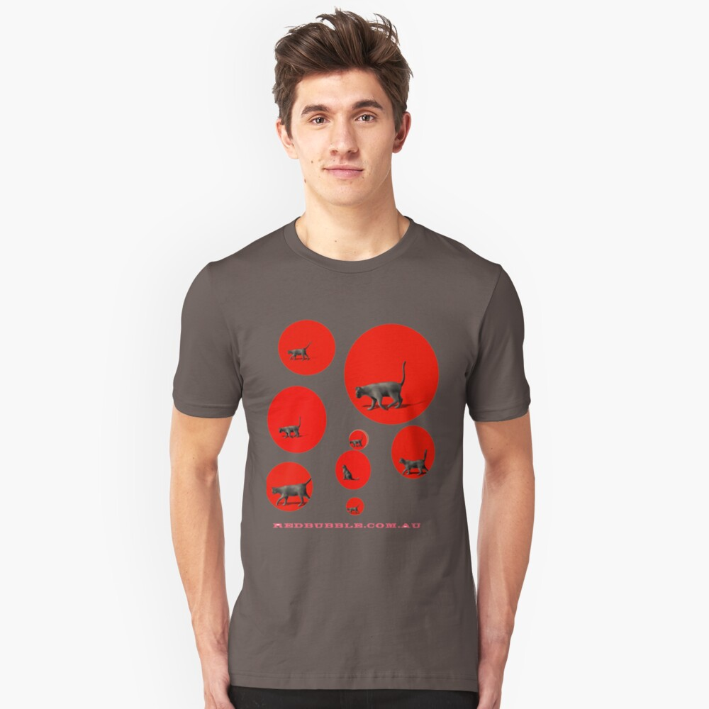 Cats in a Red Bubble Unisex T-Shirt Front