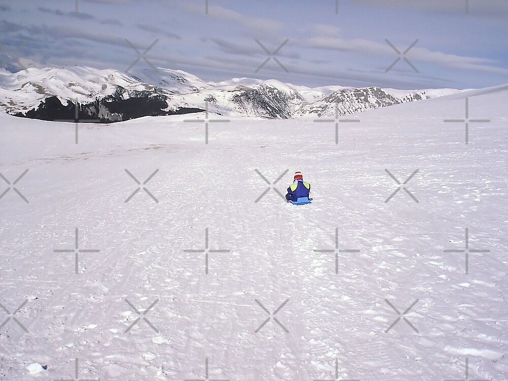 Kid alone on the slopes by queensoft