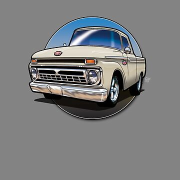 1966 Ford F100 Cartoon by snuggles