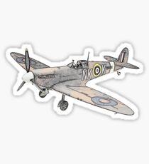 Submarine Spitfire Aircraft Sticker