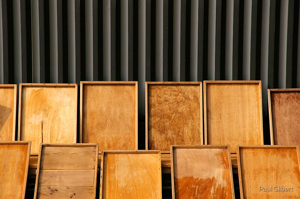Wooden trays by Paul Gilbert