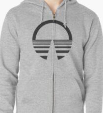 Horizons Logo - Black Zipped Hoodie