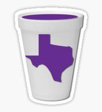Texas Lean Screw Styrofoam Cup Sticker