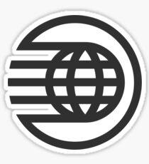 Spaceship Earth Logo - Black Sticker