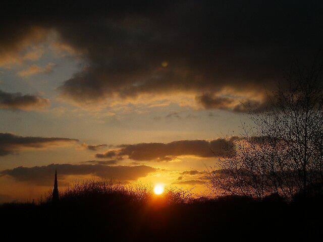 sunset from garden by paulaallison