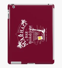 Marhala Bar - Indiana Jones Hookah Joint Dark iPad Case/Skin