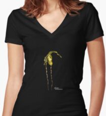 Phragmipedium bunt Logo Women's Fitted V-Neck T-Shirt