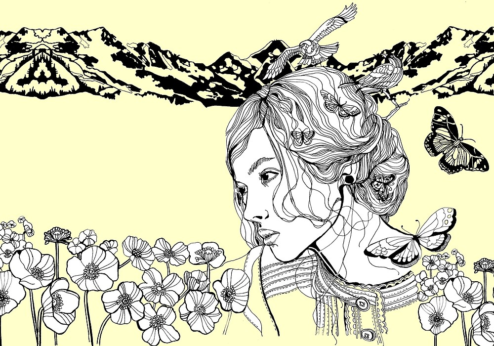 Girl and owls by imiklimikli