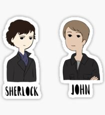 Sherlock Holmes and John Watson Sticker