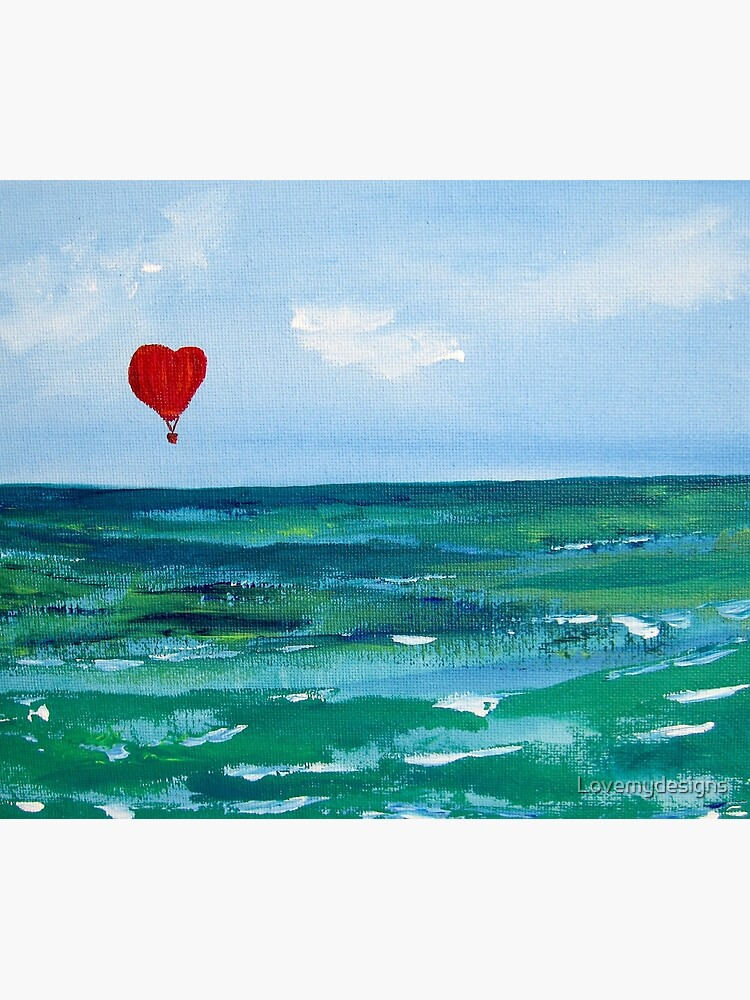 Hot air balloon over the sea by Lovemydesigns