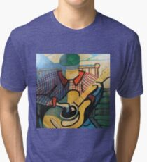 Guitar Man in the Mountains Tri-blend T-Shirt