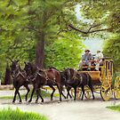 Stage Coach Approaching by Genevieve Crabe