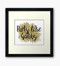 Party like Gatsby - golden jazz Framed Print