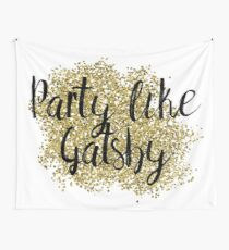 Party like Gatsby - golden jazz Wall Tapestry