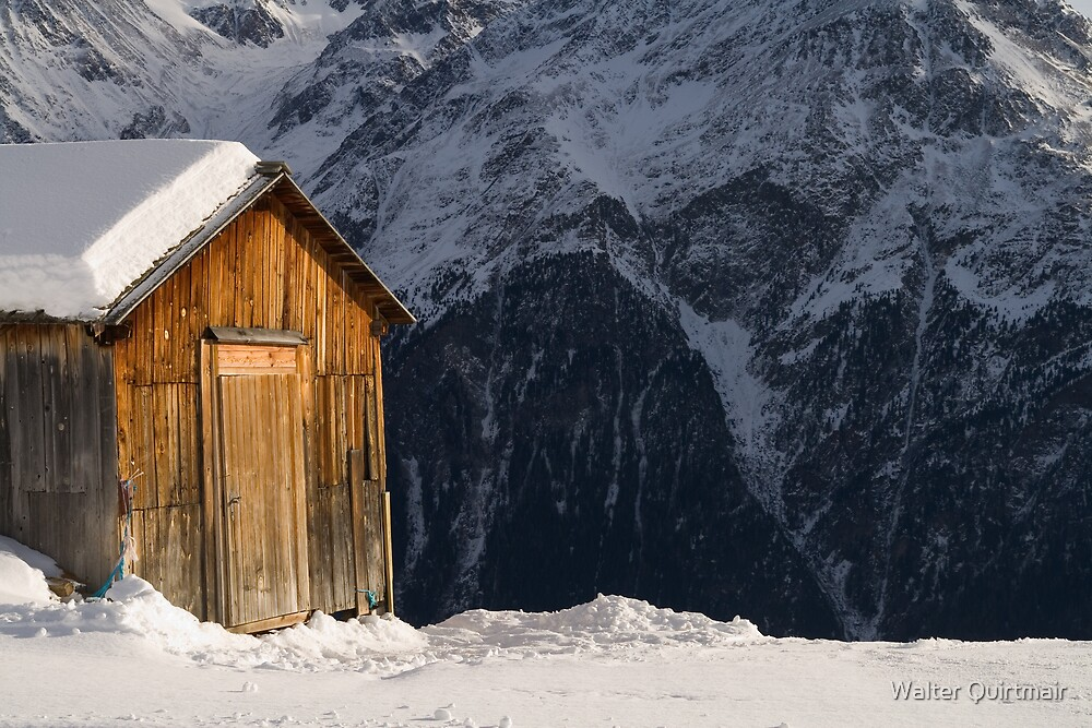 Mountain Hut by Walter Quirtmair